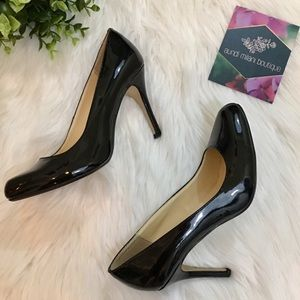 Black Patent Leather High Heels Size 7.5